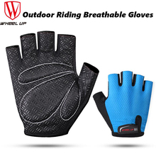 WHEEL UP Cycling gloves  Half Finger Mens Womens Summer Sports Shockproof MTB Mountain Bicycle Breathable Gloves