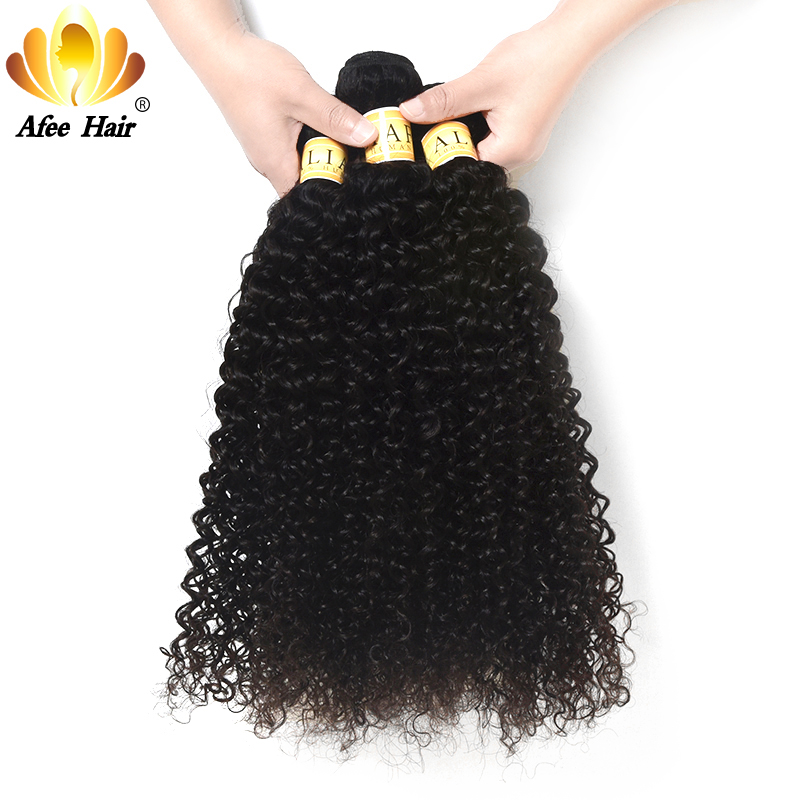 AliAfee Hair Non Remy Kinky Curly Bundles Weave 3 Bundles Deal Brazilian Kinky Curly Hair 8