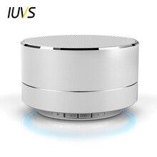 IUVS LED Metal Mini Bluetooth Speaker With Mic FM Radio TF Slot Wireless Speaker For Phone Notebook Portable Bluetooth Speakers