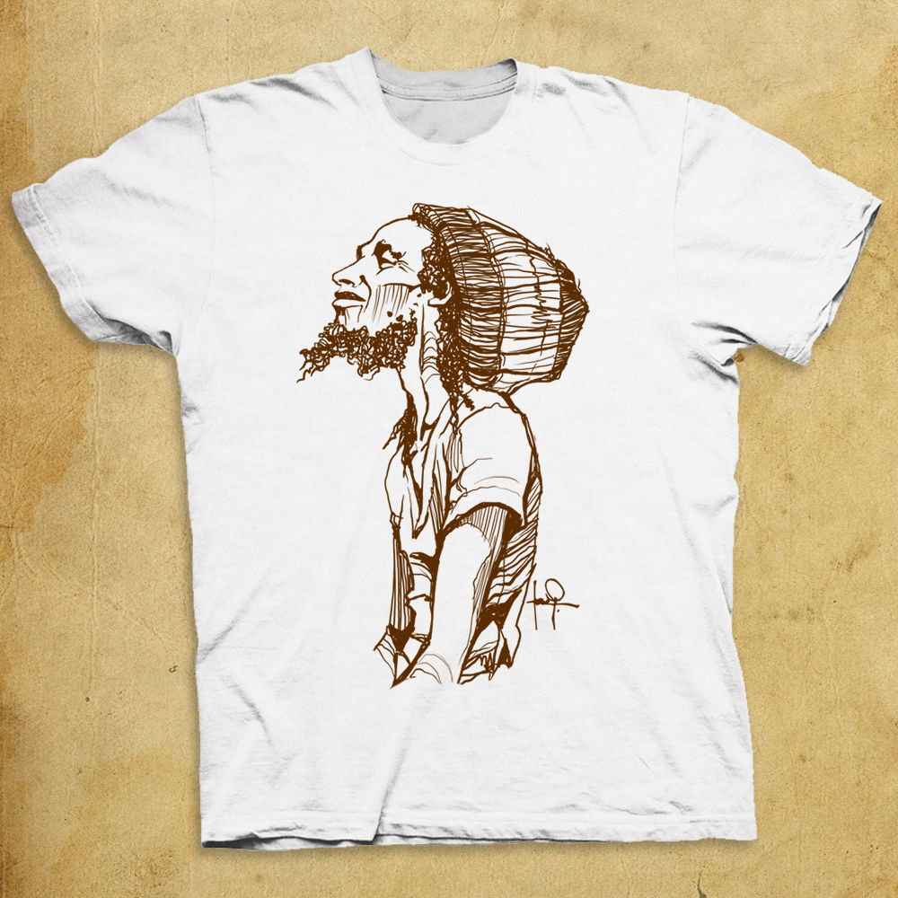 2019 Short Sleeve Cotton Man Clothing Bob Marley Graphic Sketch T-shirt Hand Drawn Illustration Funny T Shirt