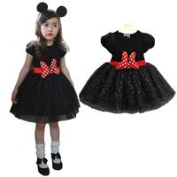 3 8Y Girl Minnie Mouse Dress Baby Kid Girls Princess Clothes Cartoon Party Minnie Dress For