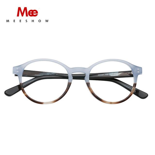 MEESHOW מותג משקפיים מסגרת נשים משקפיים אופטיים מסגרת ברור משקפיים נשים אופנתי נקבה אצטט משקפיים