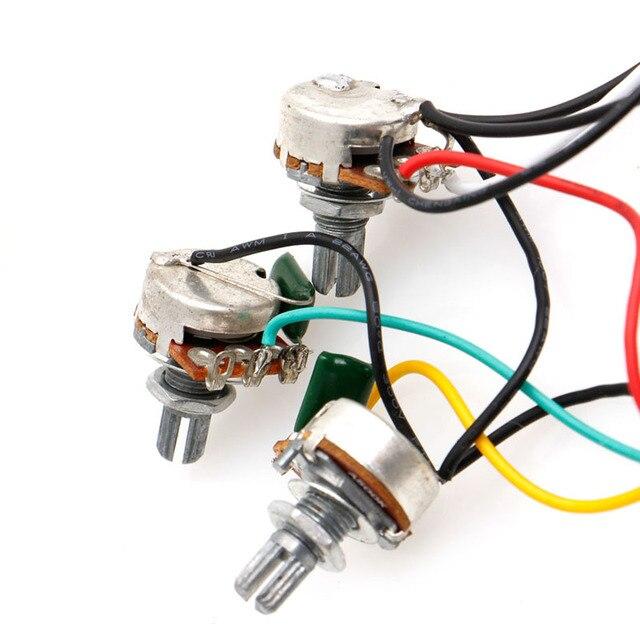 Commutateur 5 voies 250k Pots boutons câblage harnais pick-up pour guitare Strat Stratocaster
