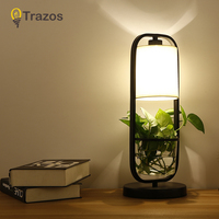 TRAZOS Art Deco Hydroponics flower Table Lamp 3 Color Change Touch Switch For Bedroom Bookcase Decor Night Light Creative Gift