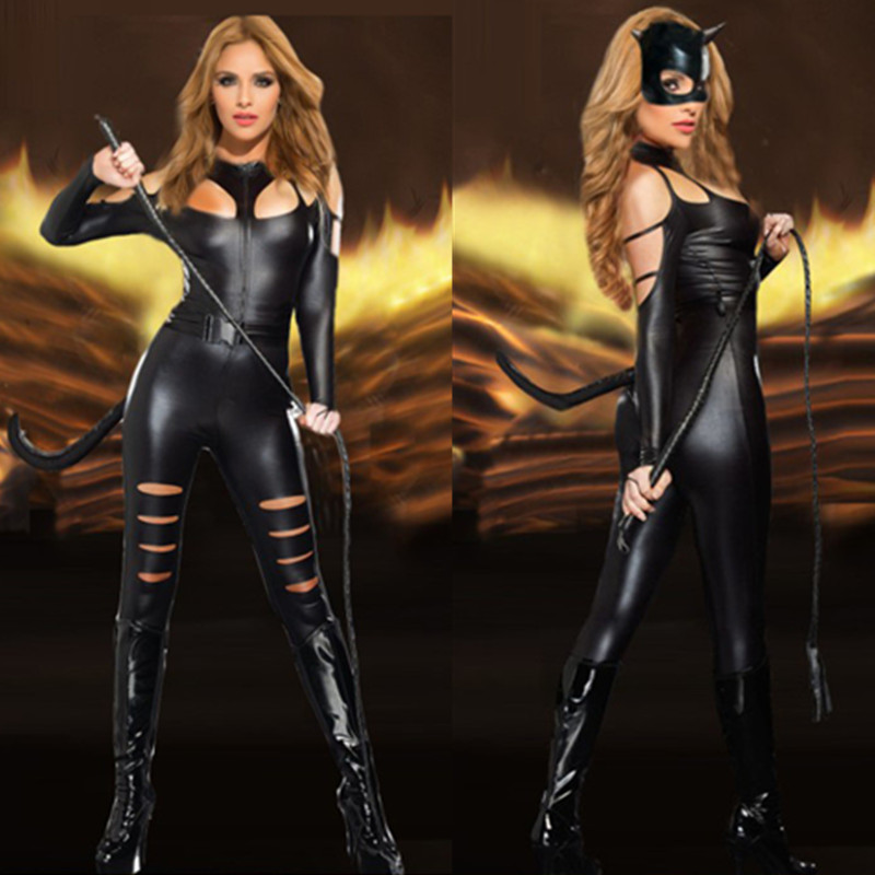 2016 New Arrival Adult Costume Faced Cat Women Leather -6002
