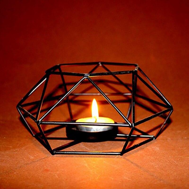 1 Stück Geometrische Leuchter Nordic Minimalistischen Stil Ornamente Wandleuchte Passenden Stahl Kleine Teelicht Kerzenhalter 100% Original