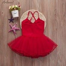 ARLONEET для девочек, для балета Платье-пачка Купальник Одежда с ремешками наряды детское нижнее белье для девочек детские Mar20 W20D30 милый