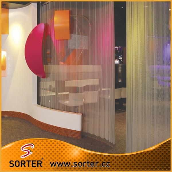 Neue design hängen silber metallgitter wand vorhang wandverkleidung ...