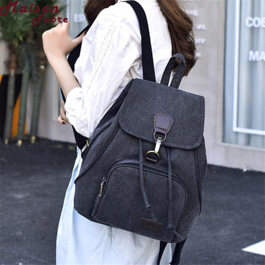 2018 New Brand Canvas backpack female 1PC Women canvas backpack school Lady girl travel student school laptop bag Best Gift