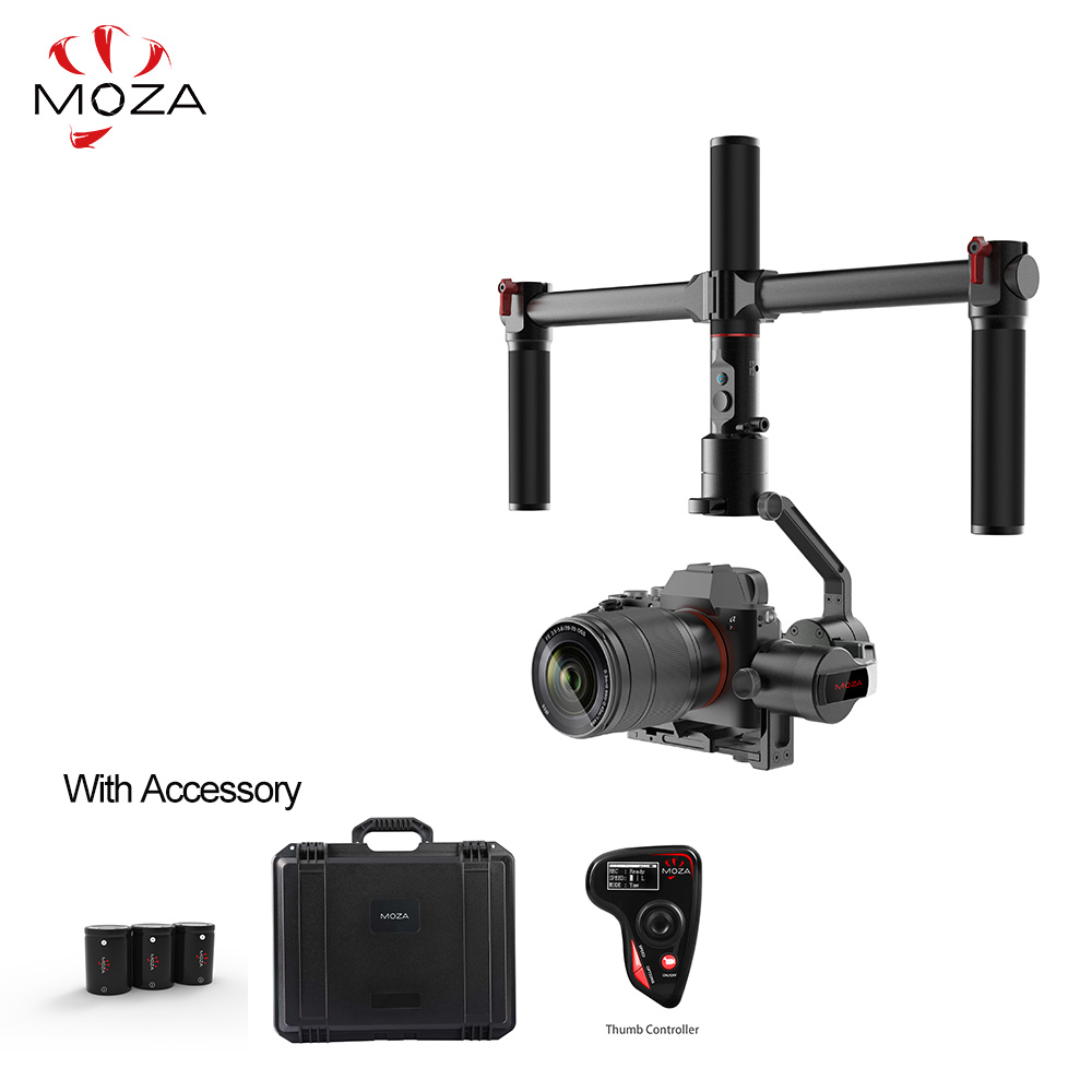 MOZA AirCross 3 Axis Handheld Gimbal Cameras 12hrs Runtime Multi-Contro For Mirrorless Camera up to 3.9lb/1800g Parameter 12mp 980 mah handheld steadygrip 4k camera 3 axis gimbal x3 for osmo kit