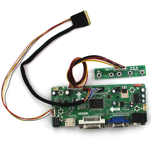 M.NT68676 LCD/LED Controller Driver Board For LP156WH2(TL)(Q1) N156BGE-LB1 (HDMI+VGA+DVI+Audio) 1366*768 PC