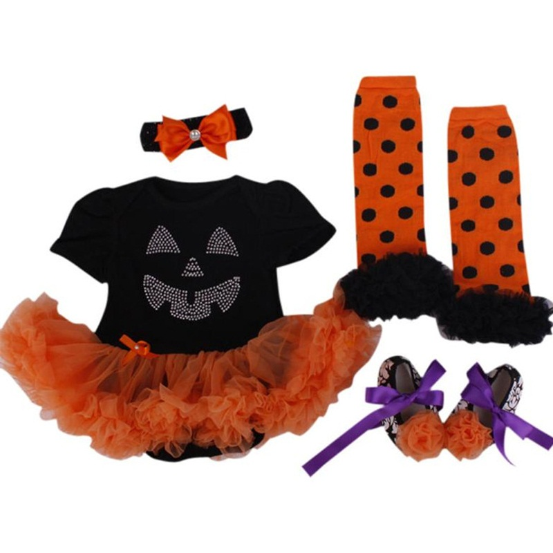 New Baby Girl Clothing Sets Halloween Costume Lace Romper Dress Tutu Set my 1st Halloween Pumpkin Jumpsuits Bebe Birthday Outfit my 1st halloween witch hat white top halloween stripe skirt girl outfit set 1 8y mapsa0897