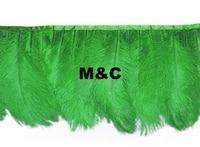 Comercio al por mayor de 10 yardas de alta calidad Natural de Plumas de Avestruz flecos cinta De plumas de Avestruz 6-8 pulgadas/15-20 cm envío gratis accesorios