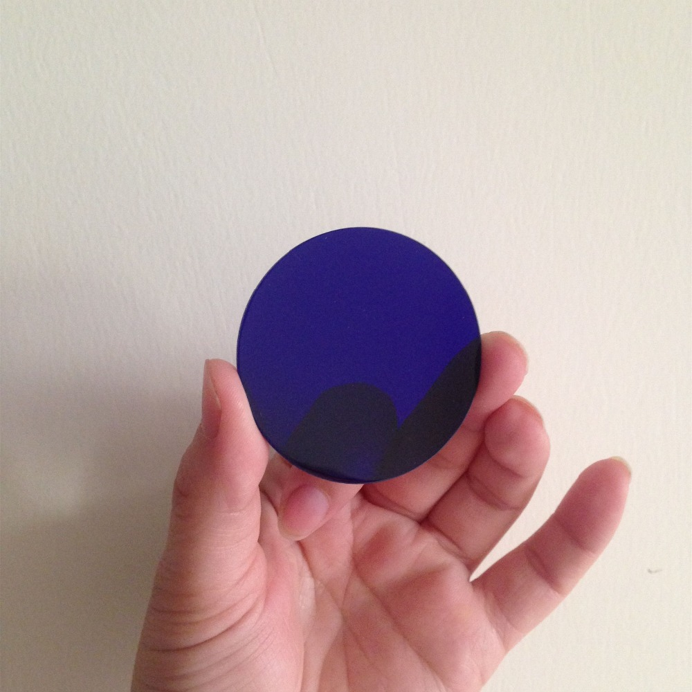 5pcs 50x50x1.0mm IR Cut Filter Blue Glass QB21 BG38 Visible Light Pass for Color Correction