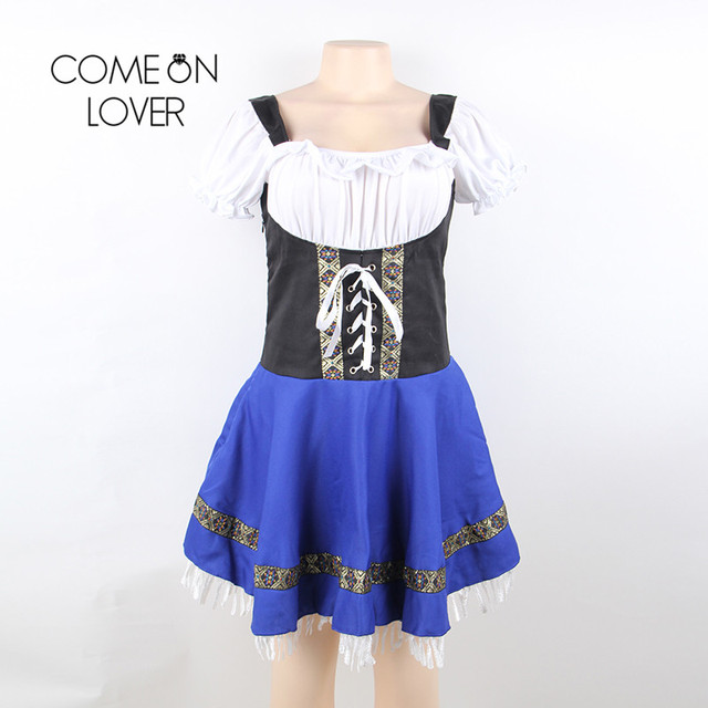 Comeonlover German Beer Girl Costume Dress Plus Size 7XL Maid Lingerie Costume Sexy Femme Cosplay Halloween Fancy Dress CI80705 3