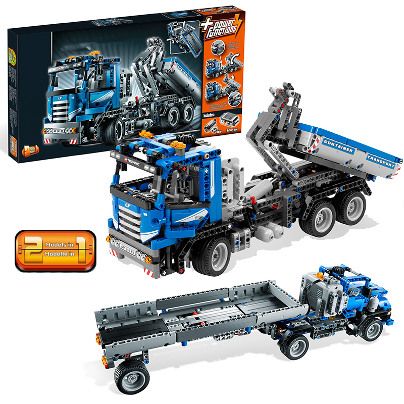 Lepin 20027 Container Truck building bricks Toys for children Game Model Car Gift Compatible with Decool Bela 8052 lepin 02012 city deepwater exploration vessel 60095 building blocks policeman toys children compatible with lego gift kid sets