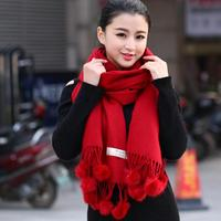 Women S Warm Thick Scarf For Winter European Designer Big Size Shawl Scarves Sheep Fur Pure