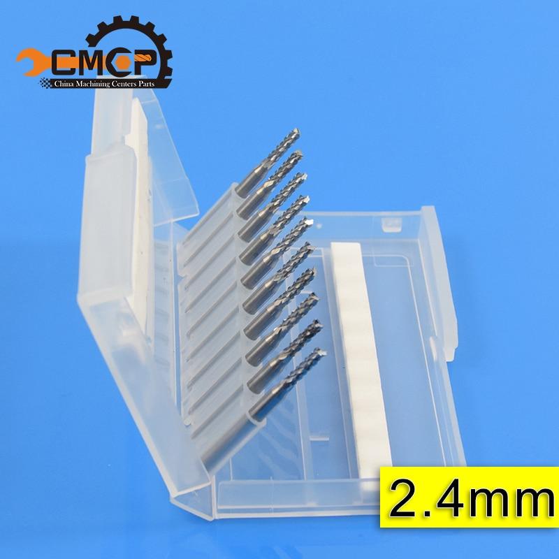 10 piezas diámetro del vástago 3.175mm cortador de fresado final grabado CNC máquina enrutador broca PCB cortador de maíz