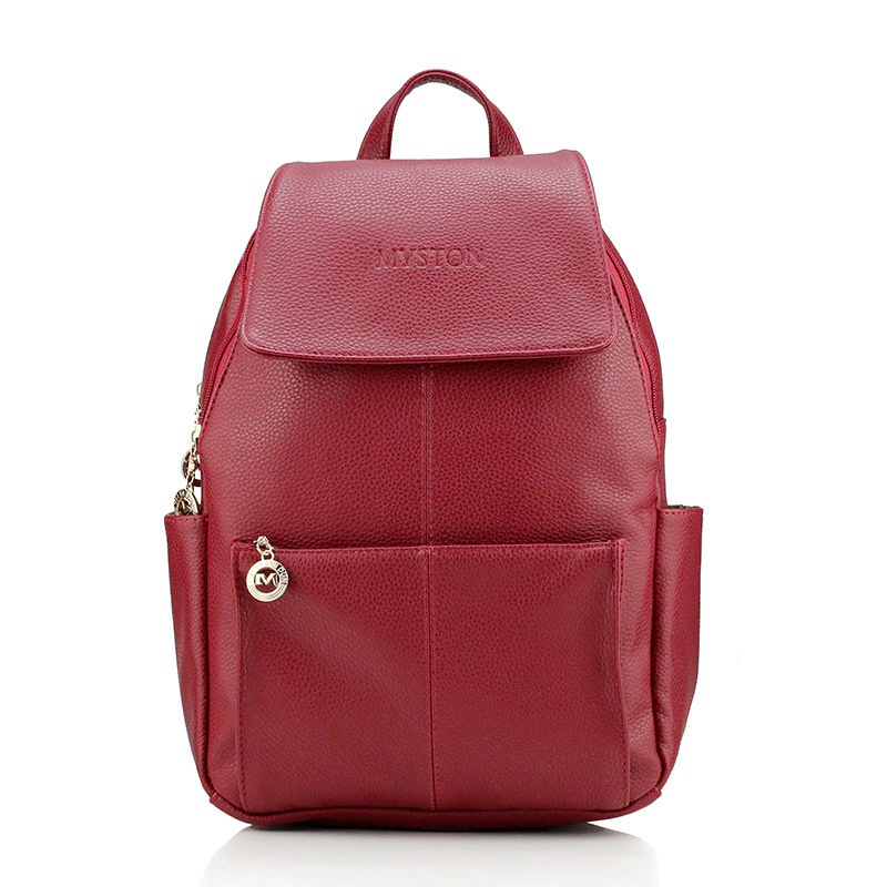 Fashion Women Backpack Genuine Leather College Preppy Wind Backpack School Bags For Teenagers Girls Travel Bags Mochila Feminina purple flowers printed dream teenagers backpack fresh preppy adorable sthdents school bags fashion travel hiking computer bag