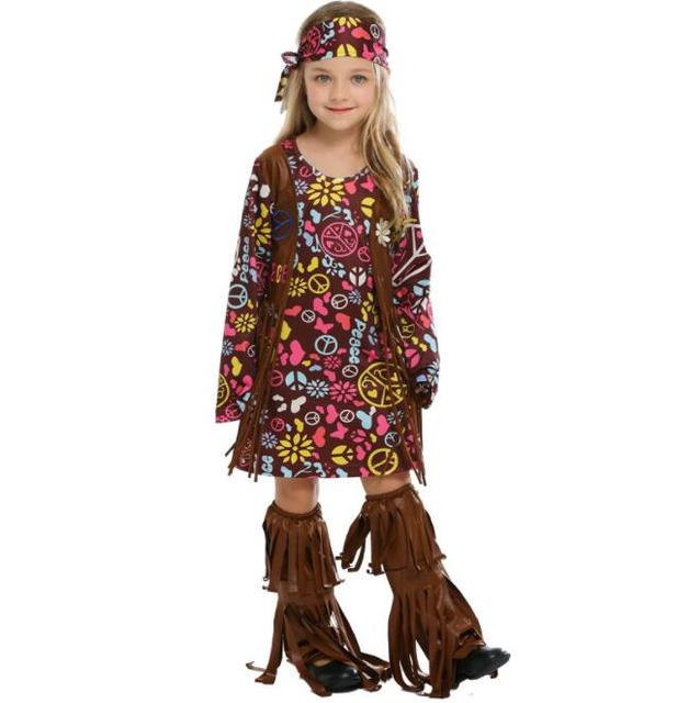 Kid Girl Halloween Party Sexy Baby Girl Native Indians Princess Tribe Role Playing Costume Cosplay