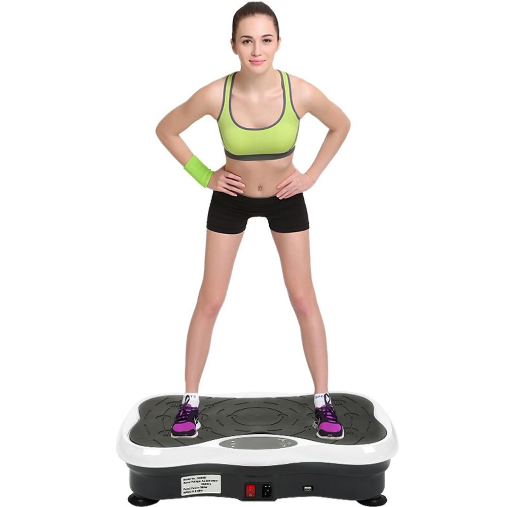 Fitness équipement de gymnastique ajustement de puissance Muscle Vibration plaque Machine exercice Vibration plaque Sport Vibration plaque corps masseur HWC