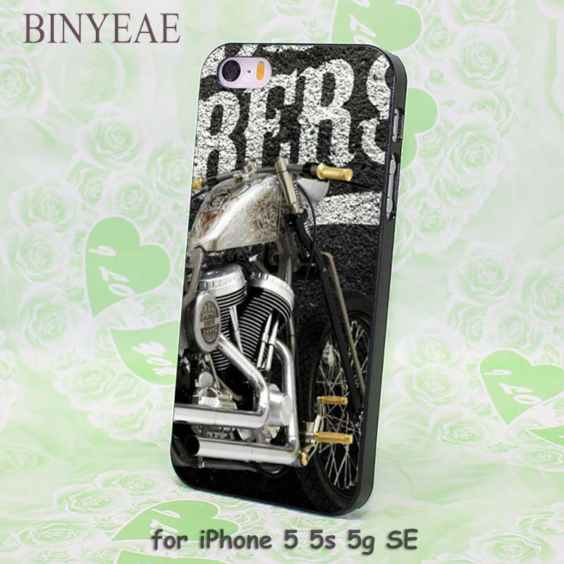 BINYEAE Classic Motorcycle Motorbike Incredible design hard black Case Cover for Apple iPhone 8 8 Plus 8x SE 5s 6 6s 6 Plus 6s P