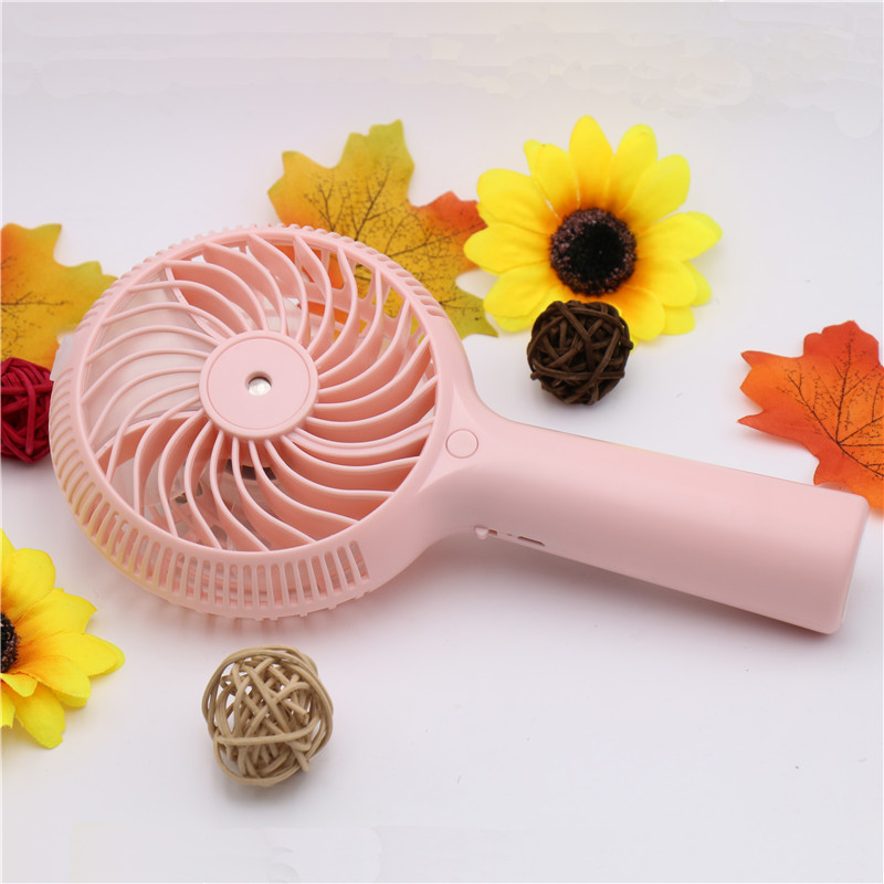BOMEINENG 1200mah Mini Water Mist Fan USB Rechargeable Handheld Portable Air Conditioning Humidfiying Spray Fans Outdoor Office