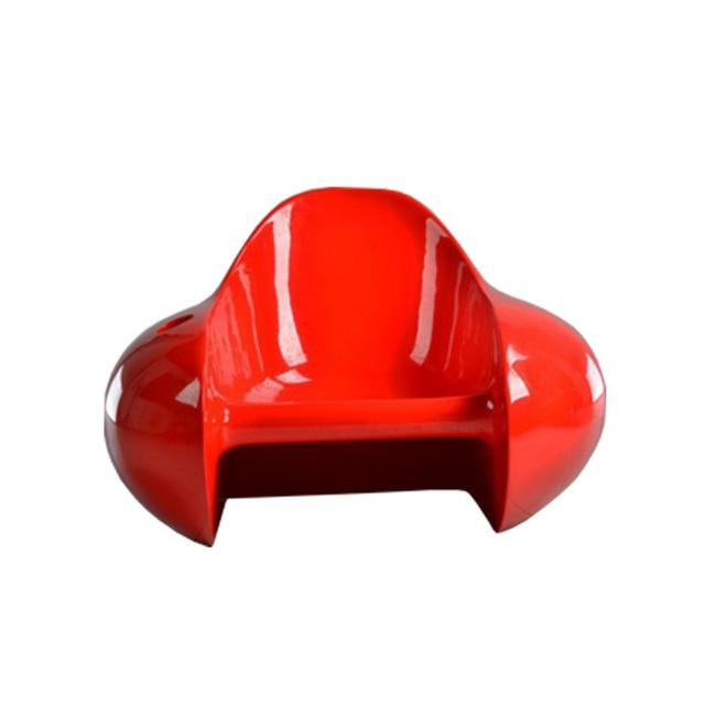 Estilo de arte minimalista sillas silla de tomate de fibra de vidrio ...