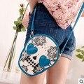 2016 new fashion handbags High quality PU leather Women bag Teenage girl shoulder bag mini Messenger Phone Skull bag