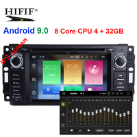 IPS 8 Core Android 9.0 Car DVD Radio GPS Stereo For Jeep Liberty Wrangler Compass Commander Grand Cherokee Dodge Caliber Journey