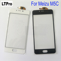 LTPro Black White TOP Quality Front Panel Glass Sensor Replacement Touch Screen Digitizer For Meizu M5C
