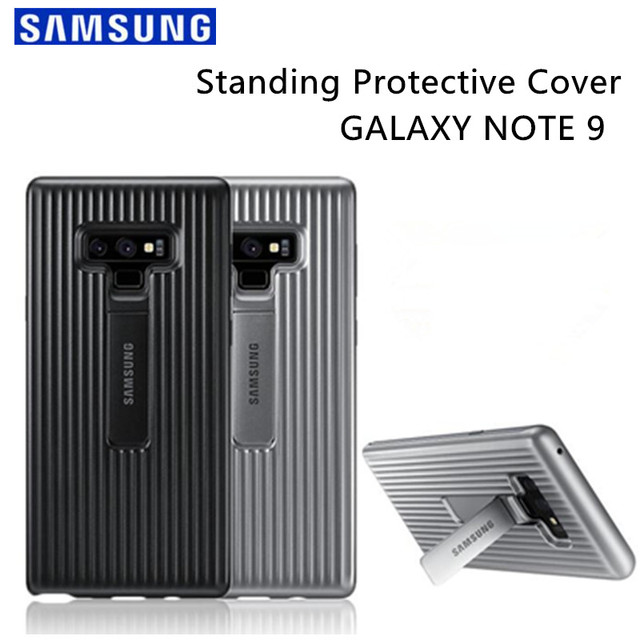 finest selection 2517a 20461 US $8.5 50% OFF|Samsung Galaxy Note 9 Rugged Protective Standing Cover Case  Original Kickstand Case SM N960F Full Protective Fundas Anti knock-in ...