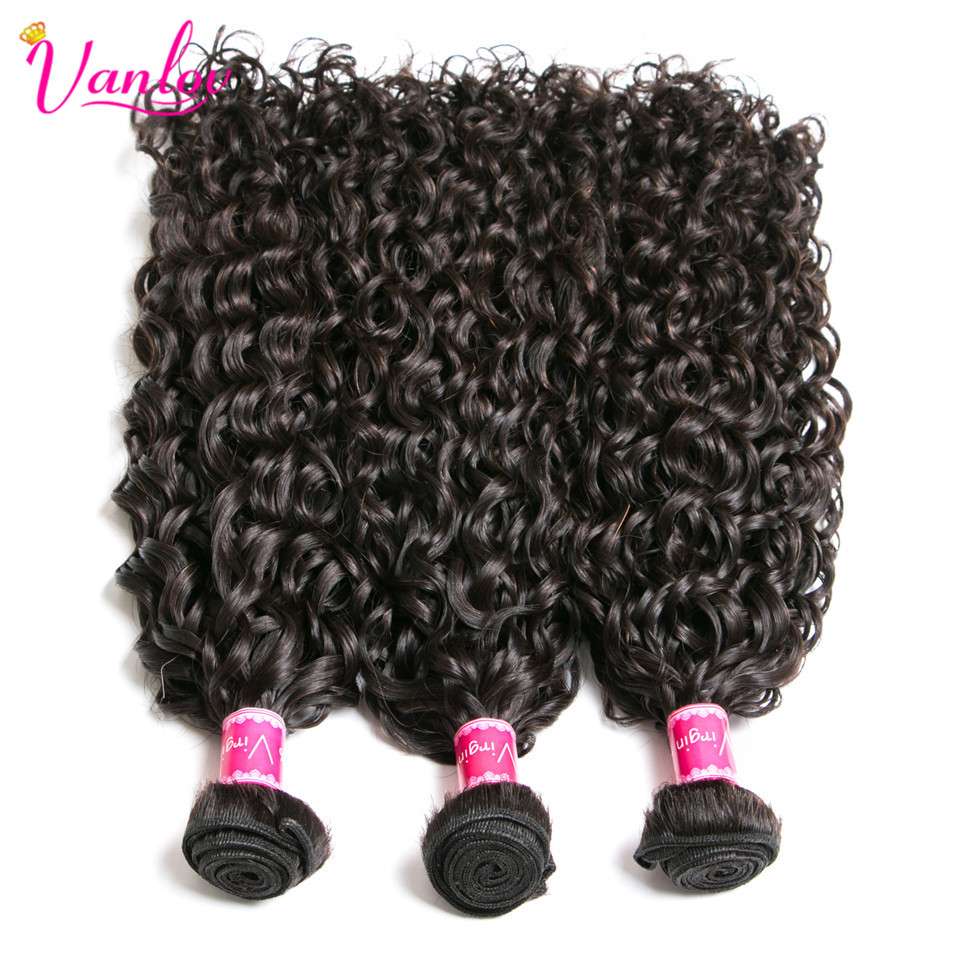 HTB16SRLKeSSBuNjy0Flq6zBpVXaP Vanlov Human Hair Bundles With Frontal Brazilian Water Wave With Closure Frontal With Bundles #1B #1 #613 More Expensive Remy
