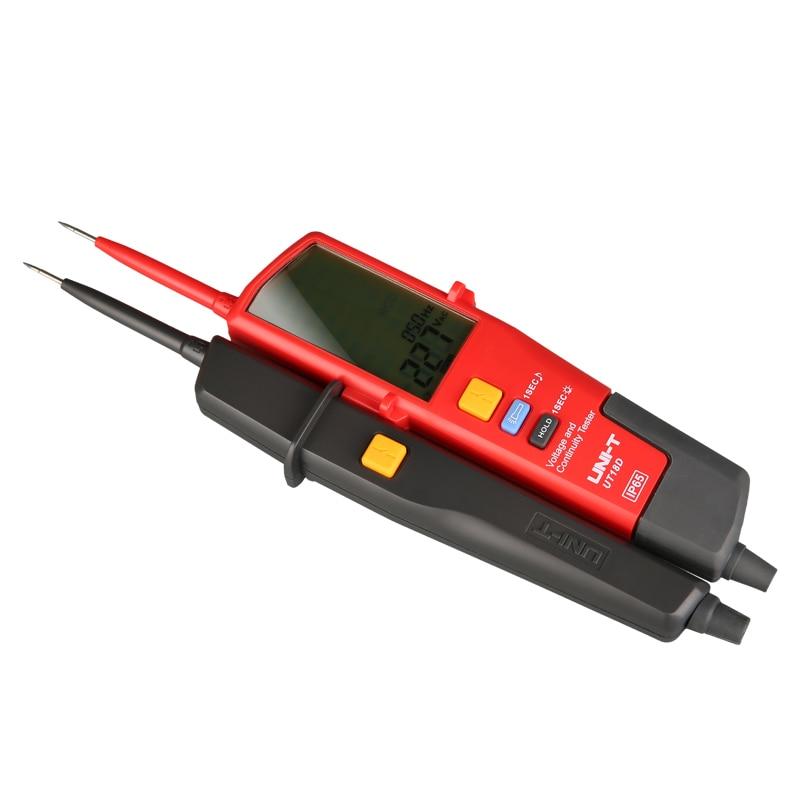 UNI-T UT18D voltmètre numérique 690V AC DC tension mètre détecteur de métaux étanche stylo de Test plein écran LCD RCD Test gamme automatique