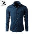 High quality men shirt 100% cotton brand business casual spring autumn long sleeved men shirt camisa masculina  Shirts