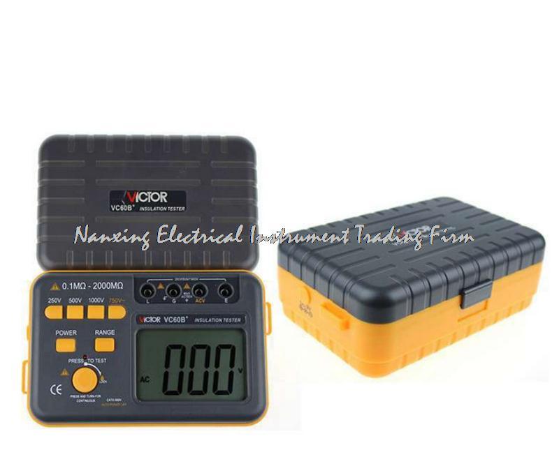 Fast arrival Victor Tesistance tester VC60B + megameter 250V/500V/1000V digital insulation