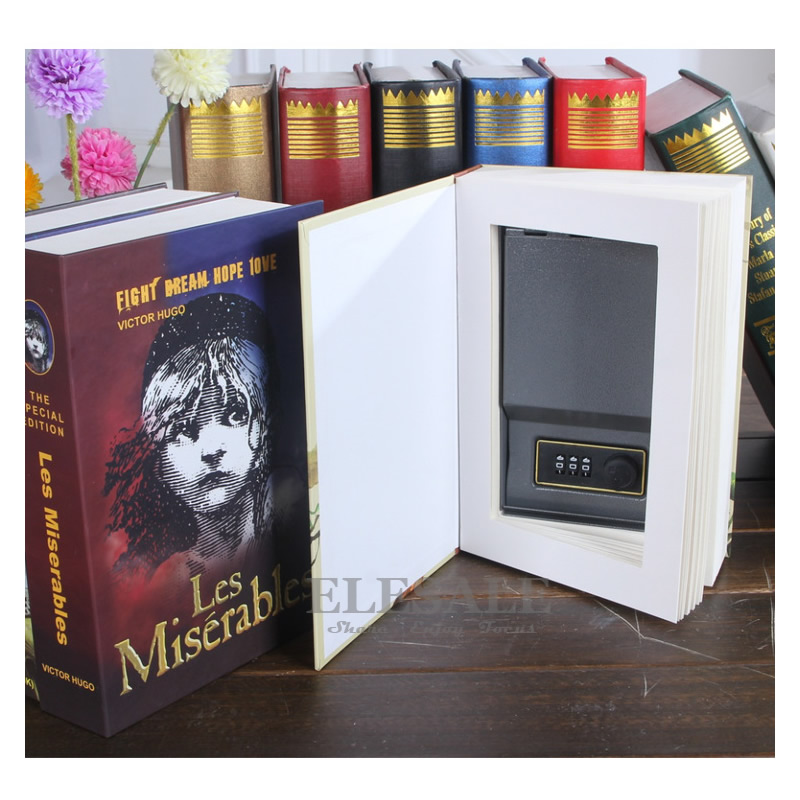 Buch Stil Versteckte Safe Simulation Passwort Kombination Key Lock Geheimnis Box Home Reise Auto Geld Schmuck Telefon Safes