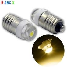 2X E10 COB LED Upgrade Flashlight Bulb 0.5W Emergency Light 3V 4.5V 6V 3-18V 5-24V C/D Cell Replace Torches