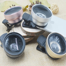HD profesional 0.45X Super Gran Angular de Lente de la Cámara Kit 12.5X Macro lente clip de la lente del teléfono celular para iphone 6 s 6 plus 5S samsung