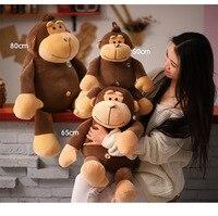 lovely brown monkey plush toy cartoon monkey soft doll throw pillow Christmas gift s2411