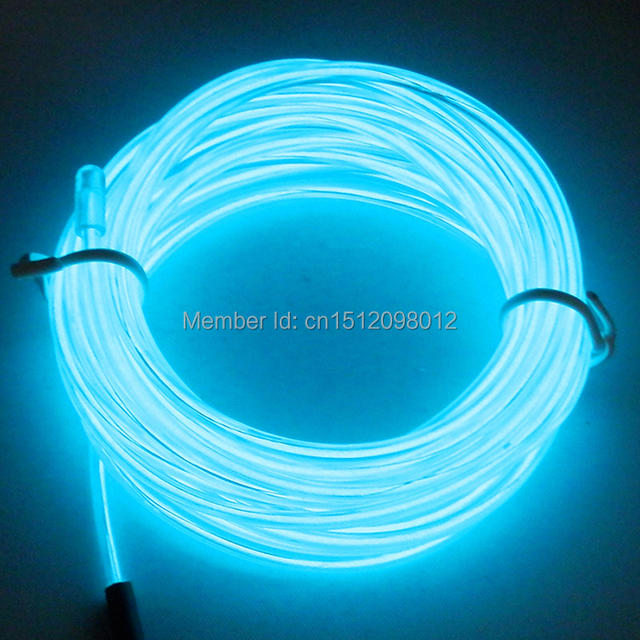 Cold light electroluminescent cable 2.3mm ice blue 50Meter EL Wire ...