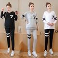 2016 Maternity women sports suit the best partner of pregnant women alphabet Fashion pregnant women set free shipping