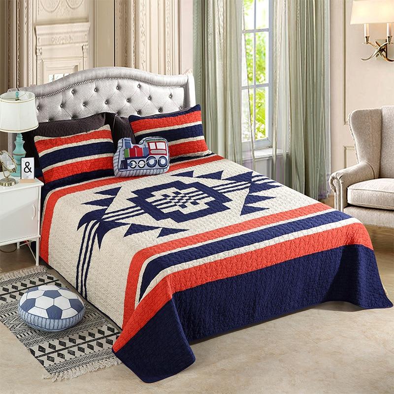 Quality Patchwork Bedspread Quilt Set 3pcs Handmade Cotton Quilts