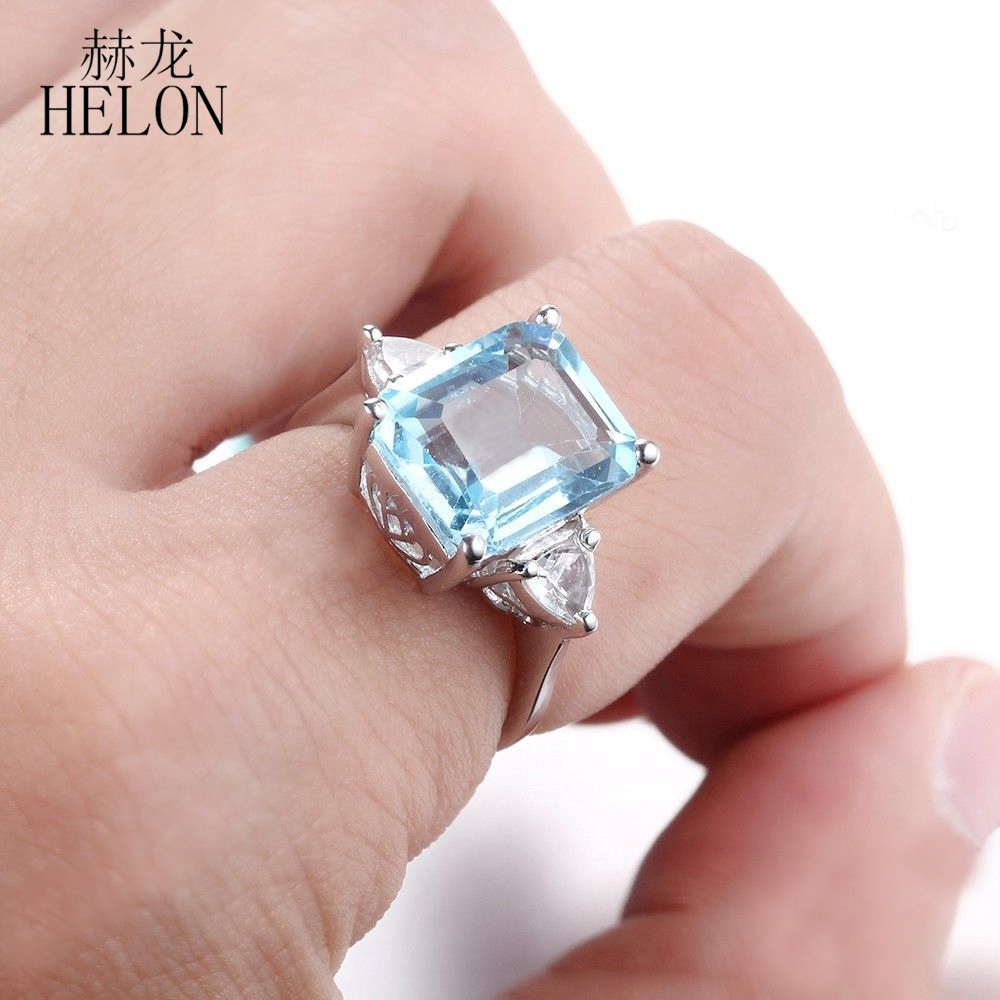 HELON Sterling Silver 925 Radiant Trillion Cut 7.2ct 100% Genuine ...