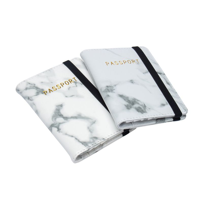 Marble Passport Travel Leather Organizer Holder Card Case Protector Cover Wallet