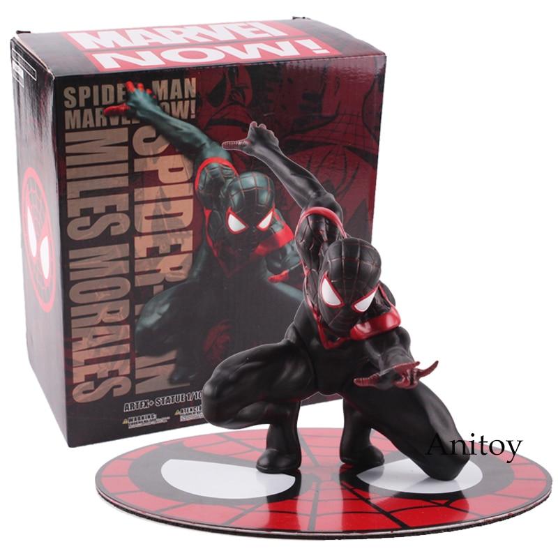 Spiderman Miles Morales Marvei Ver.Action Figure Toy Gift  ARTFX + STATUE  10cm