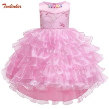 Kids Princess Beading Tutu Dress Baby Long Tail Fairy Costume Girls Wedding Ball Gown Baby Party Costumes Toddler Evening Dress db5214 dave bella summer baby girls princess dress child flowers dress kids ball gown dress children dress baby lolita costumes