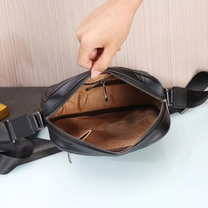 Image 5 - Kaisiludi leather woven mens bag single shoulder bag vertical mens oblique span soft leather  fashion mens and women