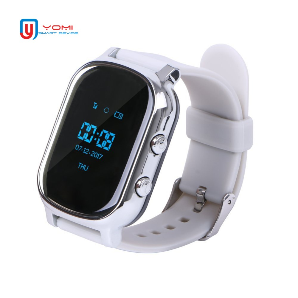 Kids Smart Watch T58for IOS/Android OLED Screen Support SIM Card Phone Watch GPS Tracker Location Finder for Children Elder smart watch t58 with glass films gps smart watch support sim card gps finder wearable activity tracker for children adults