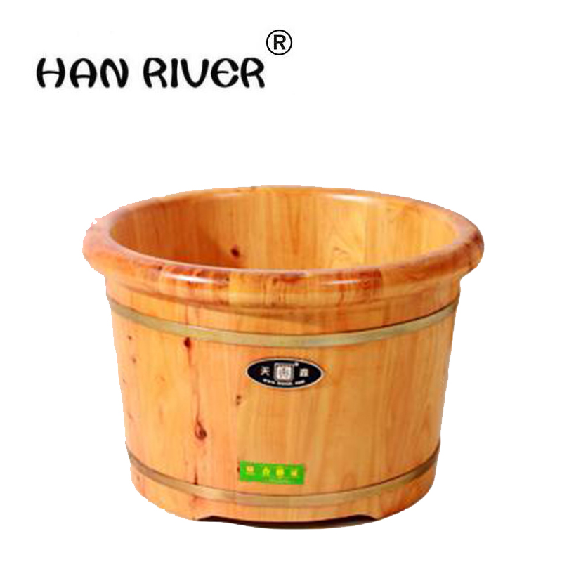 Bubble foot bath bucket barrel barrels bath bucket foot bath barrels serging affixed with cedar bubble foot bath tools